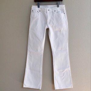 Boston Proper White Boot Cut Jeans Size 10
